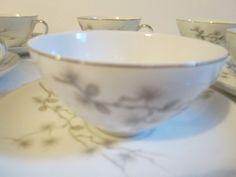 Vintage Set of 6 Teacups & Saucers Pine Song Yamamoto Made in Japan Fine China #YamamotoMadeinJapan