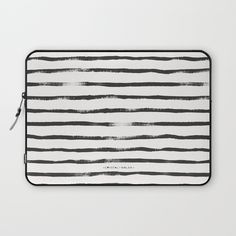 Thin Brush stripe Laptop Sleeve by Crystal Walen | Society6