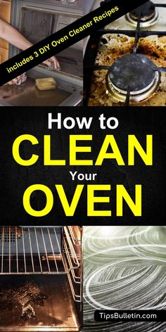 3 DIY oven cleaner recipes and the ultimate guide on how to clean your oven, stove top, cleaning the glass between the oven door by using homemade natural cleaners.