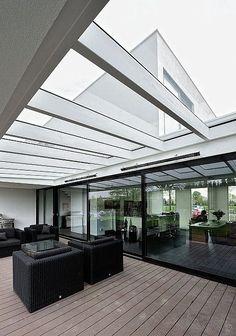 Bemmel Residence by Maxim Winkelaar and Bob Ronday | HomeAdore HomeAdore Villa Design, Terrace Design, House Design, Modern Skylights, Interior Architecture, Interior And Exterior, Interior Design, Appartement Design, Expensive Houses