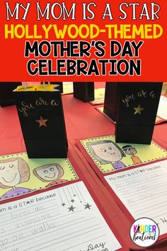 Put a different spin on Mother's Day and roll out the red carpet with a fun Hollywood themed celebration. Includes printables, ideas for gifts, decór, awards, ceremony ideas, and more! Click to read all about this unforgettable red carpet event!