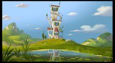 Lindas artes do filme The Lorax, por Colin Stimpsom   THECAB - The Concept Art Blog
