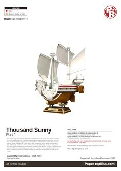 PaperToy - One Peace - Thousand Sunny Part 01 001