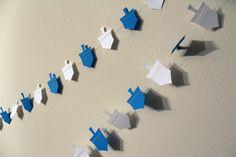 Hanukkah Dreidel Paper Garland