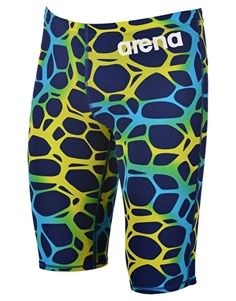 21f63030f1496 Arena Limited Edition Powerskin ST Jammer - Blue and Lime Competitive  Swimming, Swim Trunks,