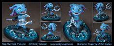 Commission : Fizz, the Tidal Trickster by emilySculpts.deviantart.com on @DeviantArt
