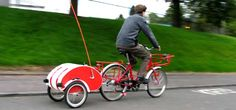 Courier bicycle trailer from www.carryfreedom.com