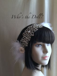 Crystal headpiece/Claire/1920s bridal by WhostheDoll on Etsy