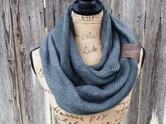 This is a beautiful knit infinity scarf that will look fantastic with any outfit.