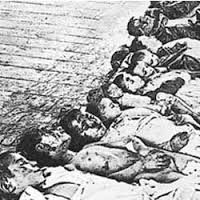 Jewish victims of Russian pogrom look at the children