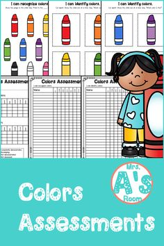 Everything you need to assess your kiddos' ability to recognize and identify colors is in this simple and easy-to-prep assessment kit! And the price is right, too! Preschool Color Activities, Preschool Ideas, Teacher Tools, Teacher Stuff, Christian School, Data Sheets, Learning Colors, Preschool Kindergarten, Pre School