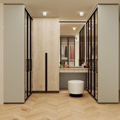 We treat walk-in wardrobes as just that-a space to freely  walk-in without barriers with privacy managed through careful planing.