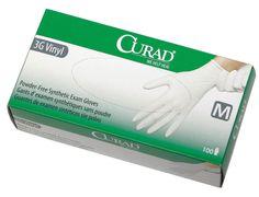 CURAD Powder-Free Latex-Free 3G Vinyl Exam Gloves | @Medline Industries, Inc. Industries, Inc.