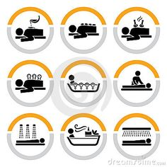 Set of Wellness and Spa Pictograms I by Zitulina, via Dreamstime