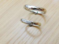 material:pt wide:2.5mm option:diamond,birthstone  http://www.yubiwatsukuru.com/
