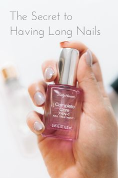 The Secret to Having Long Nails #ad Sally Hansen #SallyStrong