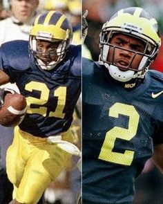 Desmond Howard and Charles Woodson Michigan | winners of the Heisman Trophy