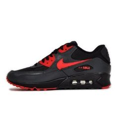 super popular 51e98 557c4 W0e3c Nike Air Max 90 women shoes black anthracite red Siren HOT SALE! HOT  PRICE!