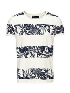 STYLISH PRINTED T-SHIRT, Whisper White