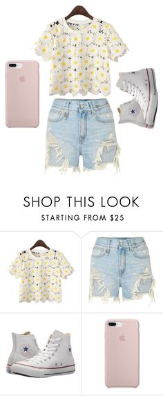 """Untitled #87"" by kacis-kacis on Polyvore featuring R13 and Converse"