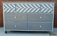 7 drawer dresser made from pallets, diy, painted furniture, pallet, repurposing upcycling, woodworking projects