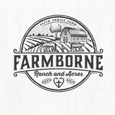 Farmborne Ranch and Acres - Farmers need you! Niche market farm needs your expert logo We are a small start up farm (cows, chickens and horses) who will sell pure organic beef to a few select individuals/. Organic Beef, Best Logo Design, Cool Logo, Logo Design Contest, Logo Inspiration, Designs To Draw, Farmers, Pure Products, Cows