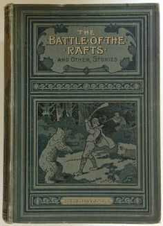 Battle of the Rafts by Boyensen, Decorative Antique Pictorial Cloth