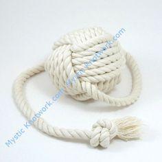 Nautical Ball on a Rope Dog Toss