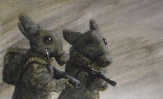 Chernobyl Rabbits, Me, Watercolor, 2020 : Art Melting Crayons, Chernobyl, Artist Names, Community Art, Alien Logo, Your Paintings, Lovers Art, Animal Kingdom, Printmaking