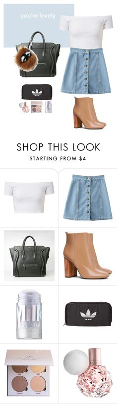 """Untitled #78"" by kayla-santella ❤ liked on Polyvore featuring Fendi, Tory Burch, MILK MAKEUP, adidas Originals and Anastasia Beverly Hills"