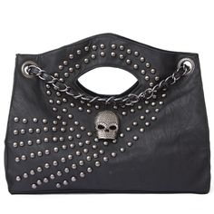 Handsome Rivets Decorated Skull Handbags Wholesale  Item Code:#MBT068+pic    US$15.50