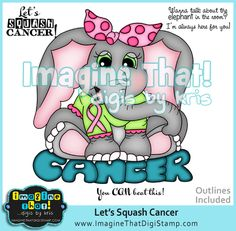 Cancer Awareness digi stamp set