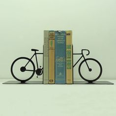 Split Bicycle Metal Art Bookends  Free USA by KnobCreekMetalArts, $64.99