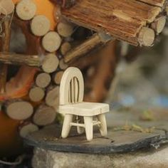 Miniature Wood Chair - Miniatures - View All - Dollhouse Miniatures - Doll Making Supplies - Craft Supplies