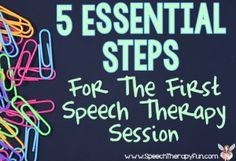 **FREEBIE** Speech Therapy Fun: 5 Essential Steps for A Successful First Speech Therapy Session