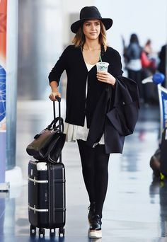 12 Insanely Stylish Celebrity Airport Arrivals via @WhoWhatWear