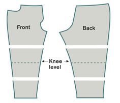 Adjusting pant patterns.