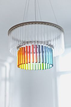 double tube filled with water - Beautiful Chandelier with Glass Test Tubes Decoration