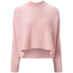Vivetta Pink Oversize Pippa Jumper ($170) ❤ liked on Polyvore featuring tops, sweaters, shirts, jumper, pink, embroidered shirts, pink sweater, long sleeve shirts, pale pink sweater and folding long sleeve shirts