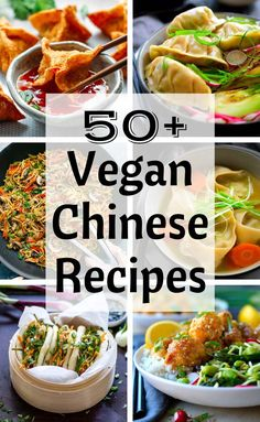 Ive scoured the web and chosen 50 of the best vegan Chinese recipes. The recipes are a mix of authentic Chinese Chinese-American and Chinese-inspired and they all look absolutely delicious! Gluten Free Chinese Food, Vegetarian Chinese Recipes, Authentic Chinese Recipes, Vegan Recipes Vegetables, Best Chinese Food, Raw Recipes, Healthy Recipes, Oven Recipes, Vegetarian