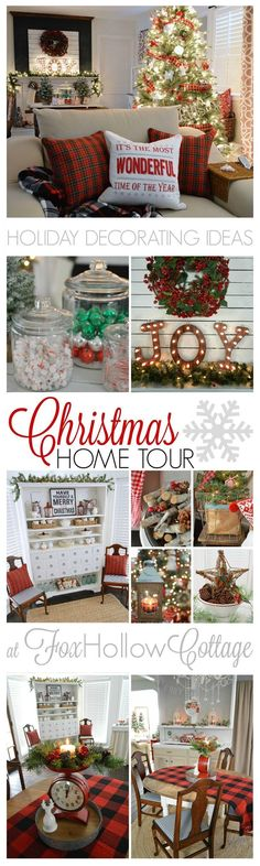 Holiday Decorating Ideas Country Living Christmas Home Tour http://foxhollowcottage.com