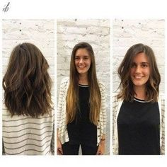 lange Haarmodelle – long hair transformation by – Pinyou Long To Short Hair, Medium Long Hair, Medium Hair Cuts, Short Hair Cuts For Women, Long Hair Cuts, Medium Hair Styles, Curly Hair Styles, Medium Length Hair With Layers, Haircut Medium