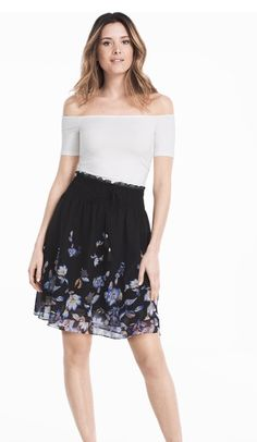 Floral Soft skirt WHBM
