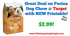 AWESOME *NEW* Coupon available! Great Deal on Purina Dog Chow @ Target with NEW Printable!  Click the link below to get all of the details ► http://www.thecouponingcouple.com/great-deal-on-purina-dog-chow-target/ #Coupons #Couponing #CouponCommunity  Visit us at http://www.thecouponingcouple.com for more great posts!