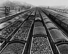 Railroad cars loaded with coal, Williamson, West Virginia.