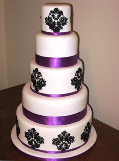 Purple And Black Wedding Cakes Pictures