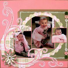 Army Girl - Scrapbook.com   Wendy Schultz via Melissa Edmondson onto Baby Layouts.