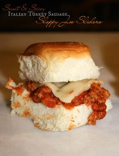 Sweet & Spicy Italian Turkey Sausage Sloppy Joe Sliders