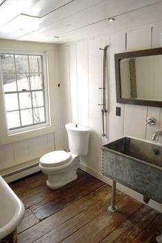industrial trough sink - for the boys bathroom Trough Sink, Basin Sink, Bathroom Inspiration, Bathroom Ideas, Bathroom Renovations, Bathroom Showrooms, Small Bathroom, Bathroom Showers, Bathroom Designs