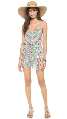 The cutest outfit for your next day outing | Mara Hoffman Tiger Stripe Romper